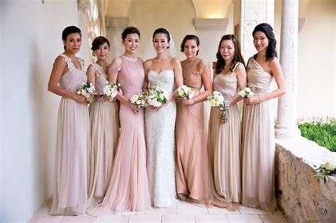 Mix And Match Blush Bridesmaid Dresses