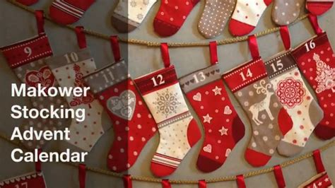christmas stocking advent calendar tutorial hobbycraft