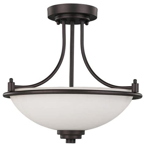 menards flush ceiling lights patriot lighting 174 camden 3 light 15 quot rubbed bronze