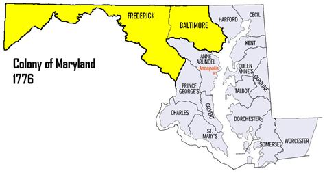 File:Map of maryland counties Fredrick,Baltimore (7th RGT ...
