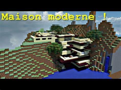 minecraft maison moderne dans la falaise
