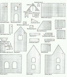 gingerbread house patterns  templates images