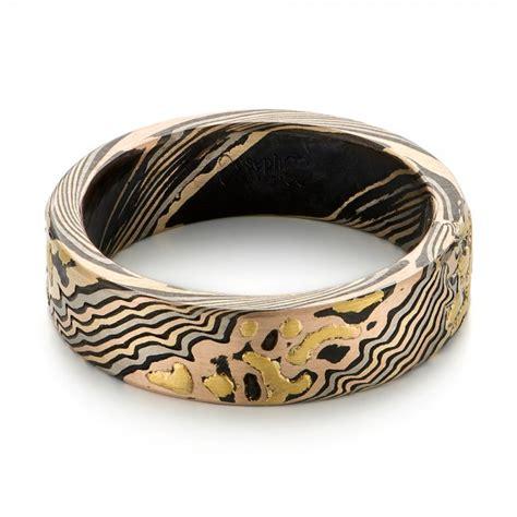 custom mokume wedding band 103470 seattle bellevue joseph jewelry