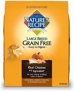 Nature's Recipe Large Breed Grain Free Chicken, Sweet