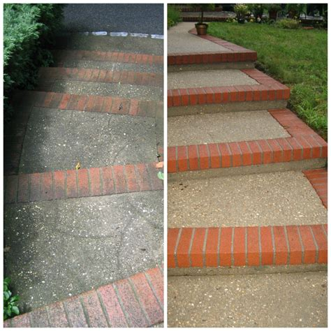 brick and concrete walkway blue stone belgian block brick pavers cement htons power wash