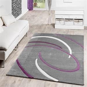Teppich Grau Lila : wohnzimmer teppich grau wohnzimmer teppiche ~ Whattoseeinmadrid.com Haus und Dekorationen