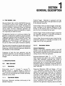 Wavetek 148a User Service Manual Download  Schematics  Eeprom  Repair Info For Electronics Experts
