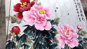 How to Paint Peony in Chinese painting - YouTube