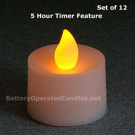 flameless tea lights with timer tall flameless tea lights amber led battery operated 12