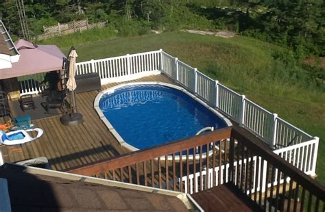 oval above ground pool deck plans pool design ideas