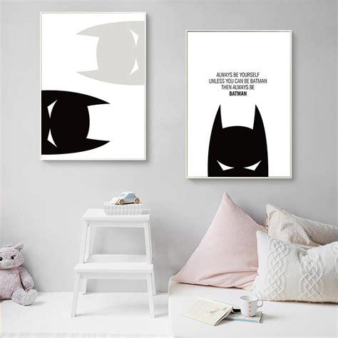 batman inspirational quote canvas poster nursery art