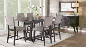 counter height dining room sets hill creek black 5 pc counter height dining room dining room sets black