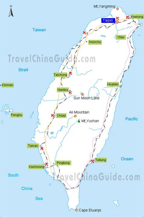 taiwan map tourist attractions toursmapscom
