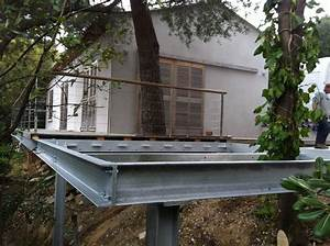 terrasse en acier galvanise newsindoco With terrasse en acier galvanise