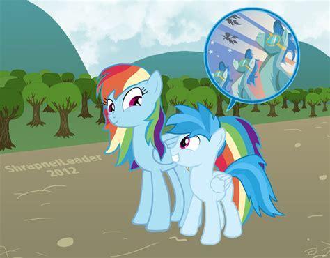 Rainbow Dash and her son Tempest by ShrapnelLeader on