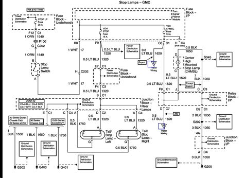 Chevy Tahoe Light Wiring Diagram by Chevy Brake Light Wiring Wiring Diagram