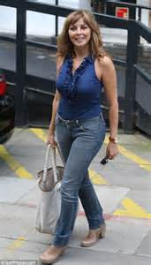 casual friday for carol vorderman as she ditches trademark
