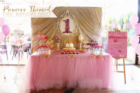 Alma's Princess Themed First Birthday Party Time2partaycom