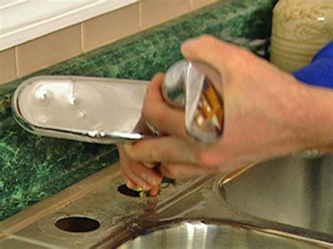 remove  replace  kitchen faucet  tos diy