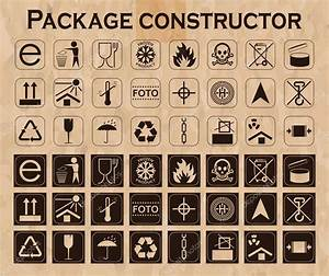 Vector package constructor. Packaging symbols. Icon set ...