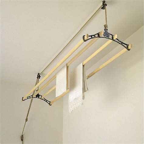 laundry drying rack traditional clothes airer 4 rail cast iron