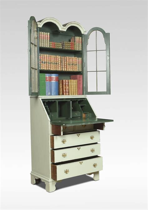 bureau bookcase painted bureau bookcase of small proportions antiques atlas