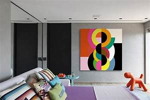 tableau abstrait vente de tableaux abstraits pop art With couleur peinture mur 5 sticker art tache de peinture stickers art et design