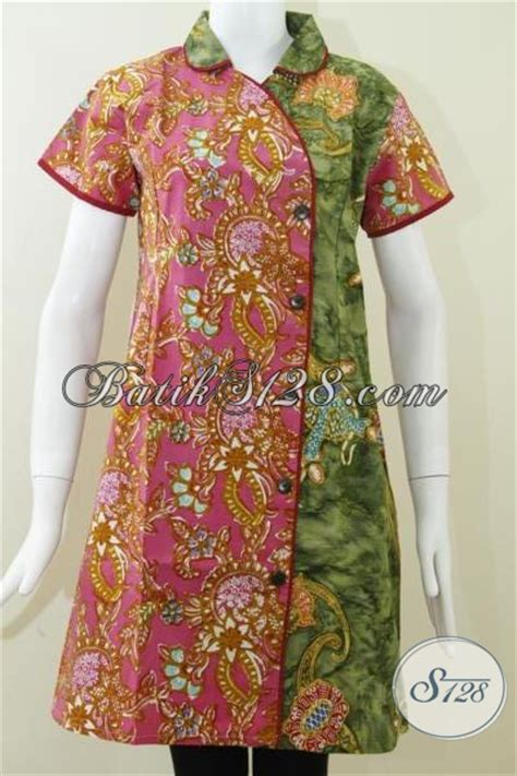 model dress mini  wanita modisdress batik lengan