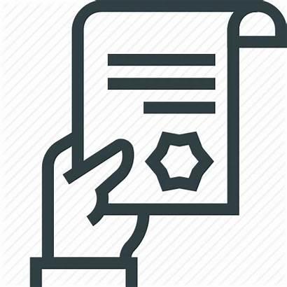 Icon Document Warrant Grant Legal Warrants Hand
