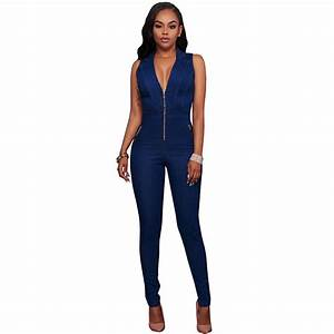 Summer women jeans jumpsuits Women Denim Jumpsuit Ladies ...