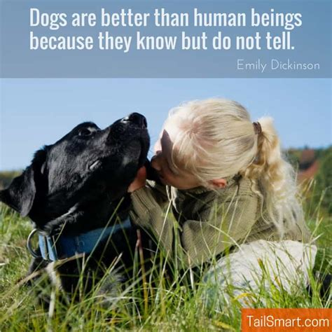 better than dogs human quote beings they humans dog know because dickinson emily tell leave