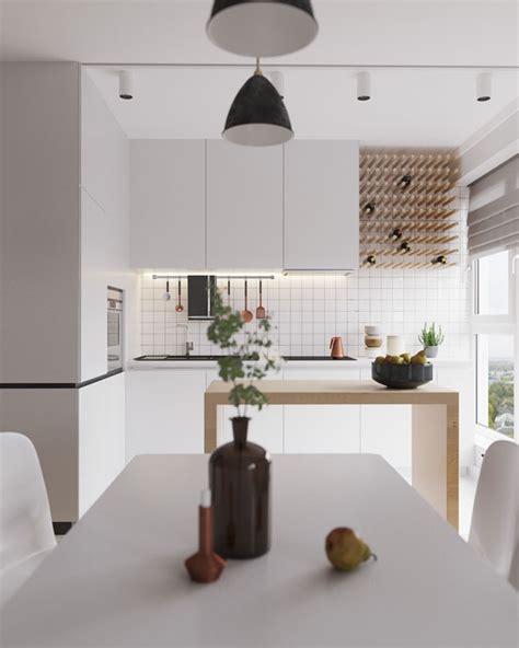 cuisine moderne blanche et bois cuisine moderne blanche et bois clair