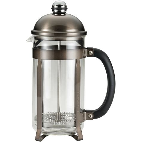 Ovela stainless steel double wall coffee plunger. BonJour Coffee Stainless Steel French Press with Glass ...