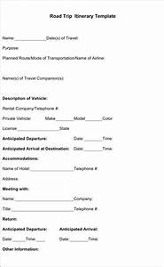 blank trip itinerary template - download sample road trip itinerary templates for free