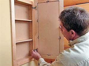 How to attach a pre fabricated medicine cabinet how tos for Making a bathroom cabinet