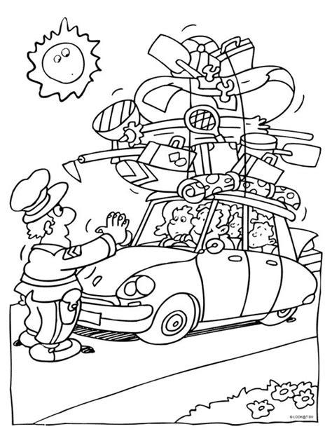 Kleurplaat Bekeuring by Politie Kleurplaten Politie