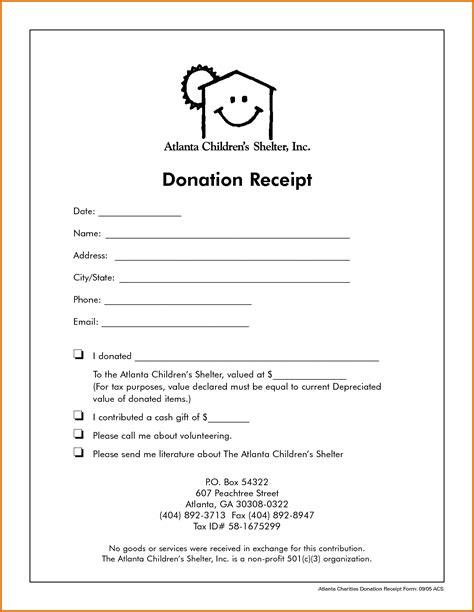 charitable donation receipt template non profit donation receipt templatereference letters words reference letters words