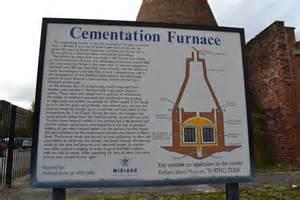Cementation Furnace Information Board      U00a9 Terry Robinson