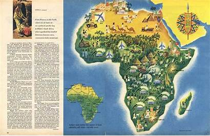 Map Africa Maps Decorative C1958 Fred Chance