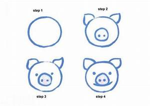 How to draw pink pig - Hellokids.com