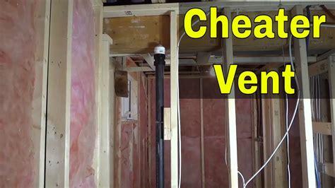 cheater vent  plumbing   works aka air admittance