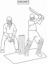 Cricket Coloring Pages Sports Printable Sport Drawing Colouring Batsman Getdrawings sketch template