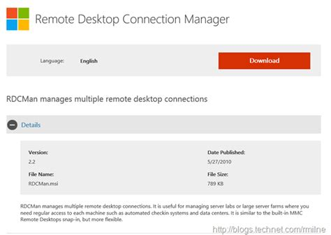 remote desktop connection manager  rdcman