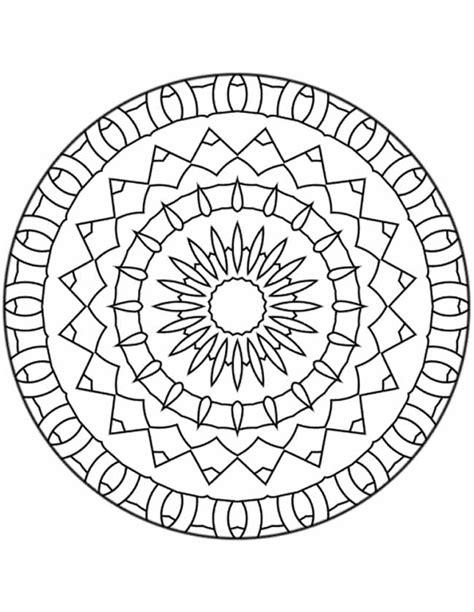 Kleurplaat Mandala by Kleuren Nu Mandala Ringen Kleurplaten