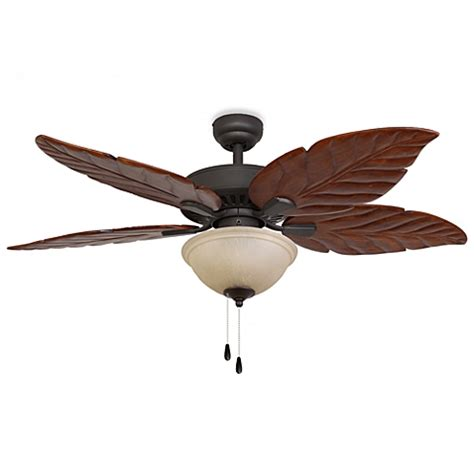palm leaf ceiling fan replacement blades buy bronze leaf from bed bath beyond