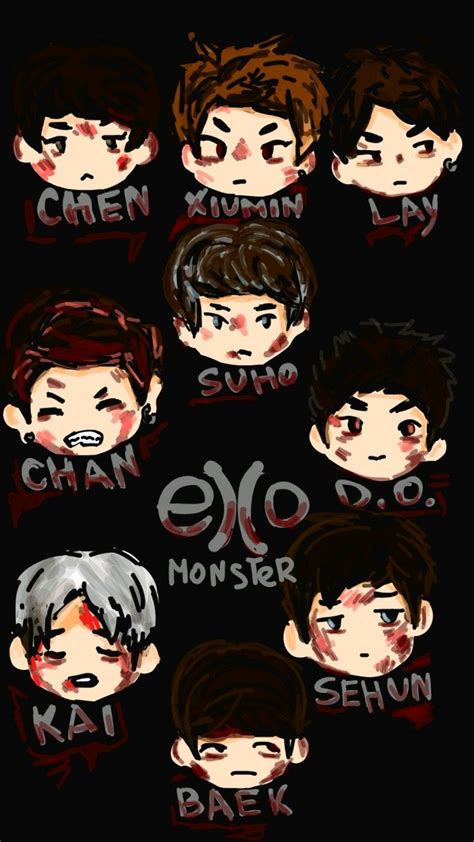 Exo Anime Wallpaper - exo k pop exo exo and