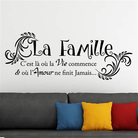 revger com stickers citation famille idée inspirante pour la conception de la maison