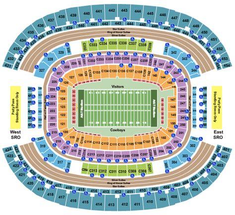 att stadium seating chart arlington