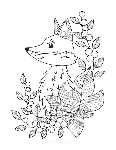 autumn fall coloring pages   printables  kids