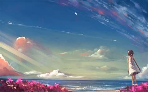 Anime Nature Wallpaper Hd - anime nature sky wallpapers hd desktop and mobile
